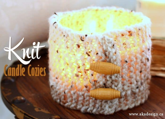 knit candle cozies title