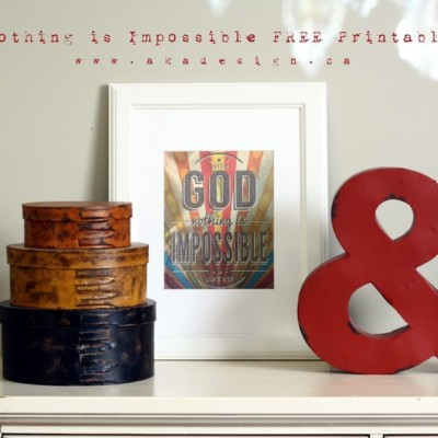 Nothing is Impossible | Printable Art