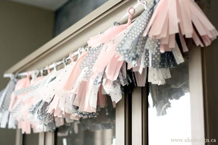 tassel garland hanging
