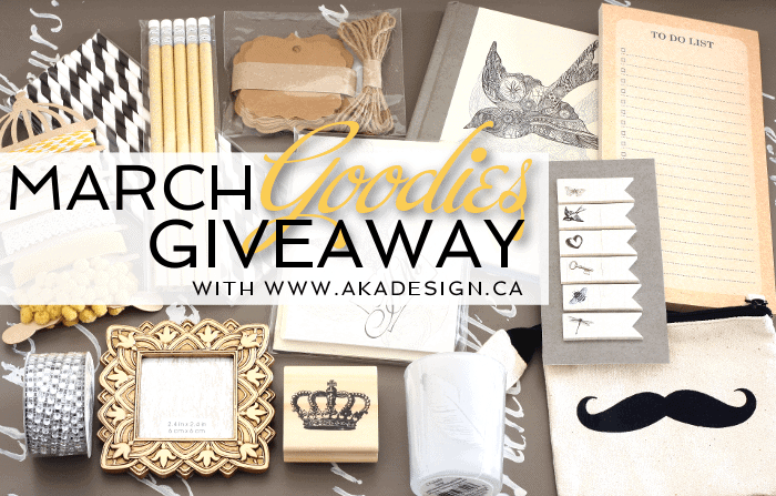 march goodies giveaway