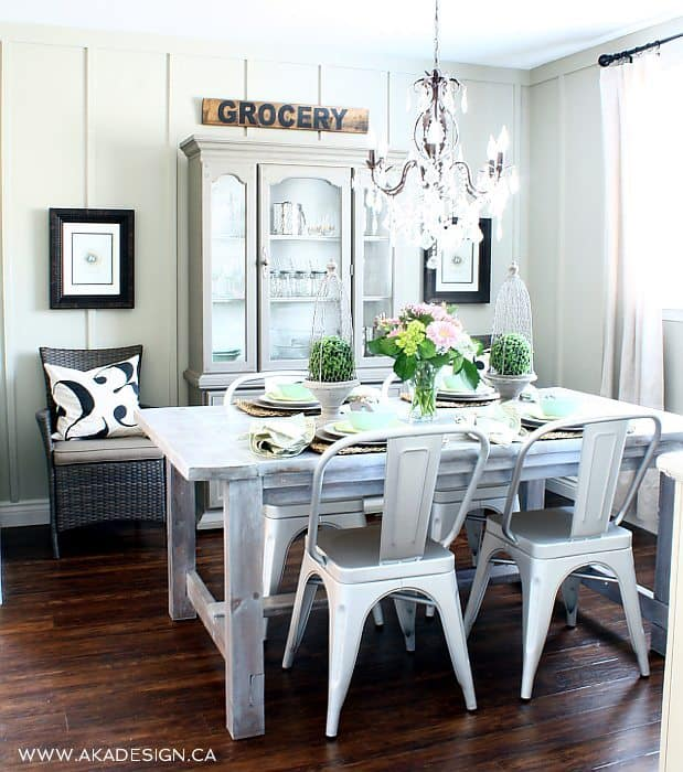 Style house tour aka designs city farmhouse for Glam dining room ideas