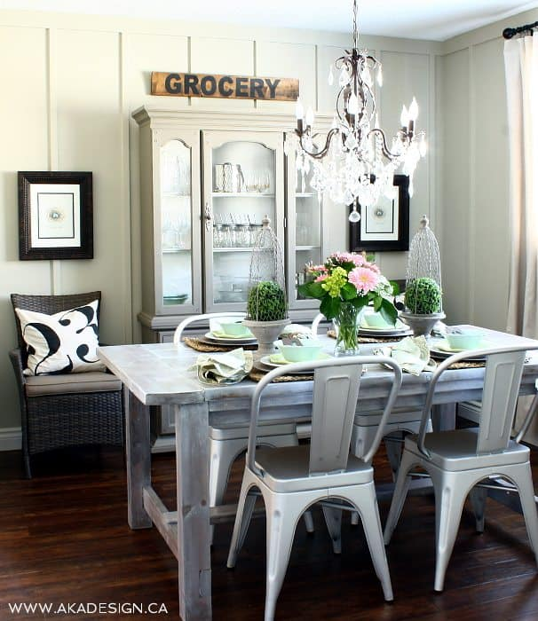 Farmhouse Dining Room Ideas: Upcycled Barn Door {Tutorial By AKA Design + Life}