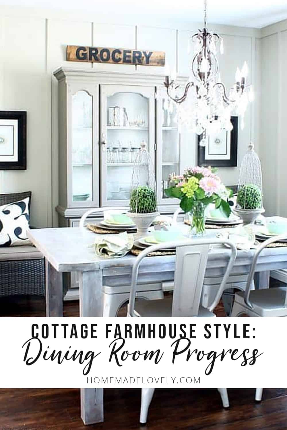 Cottage farmhouse style dining room progress
