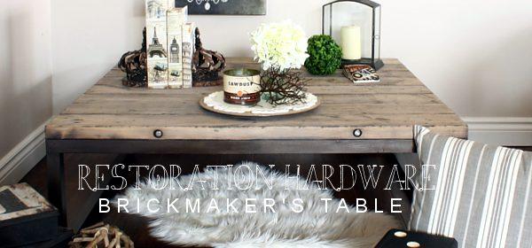 RH-Inspired Brickmaker's Table