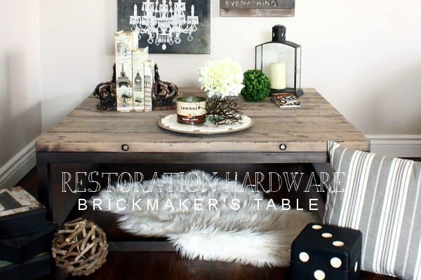 RESTORATION HARDWARE BRICKMAKERS TABLE