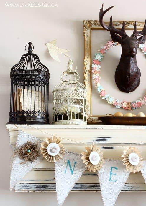 SPRING mantel bird cages