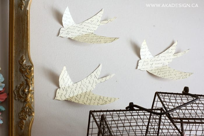 flying paper birds