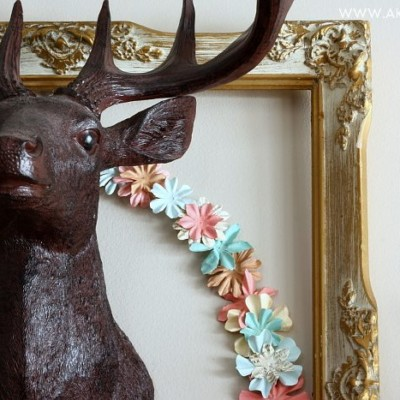 Make a Simple Paper Flower Wreath in Under 10 Minutes