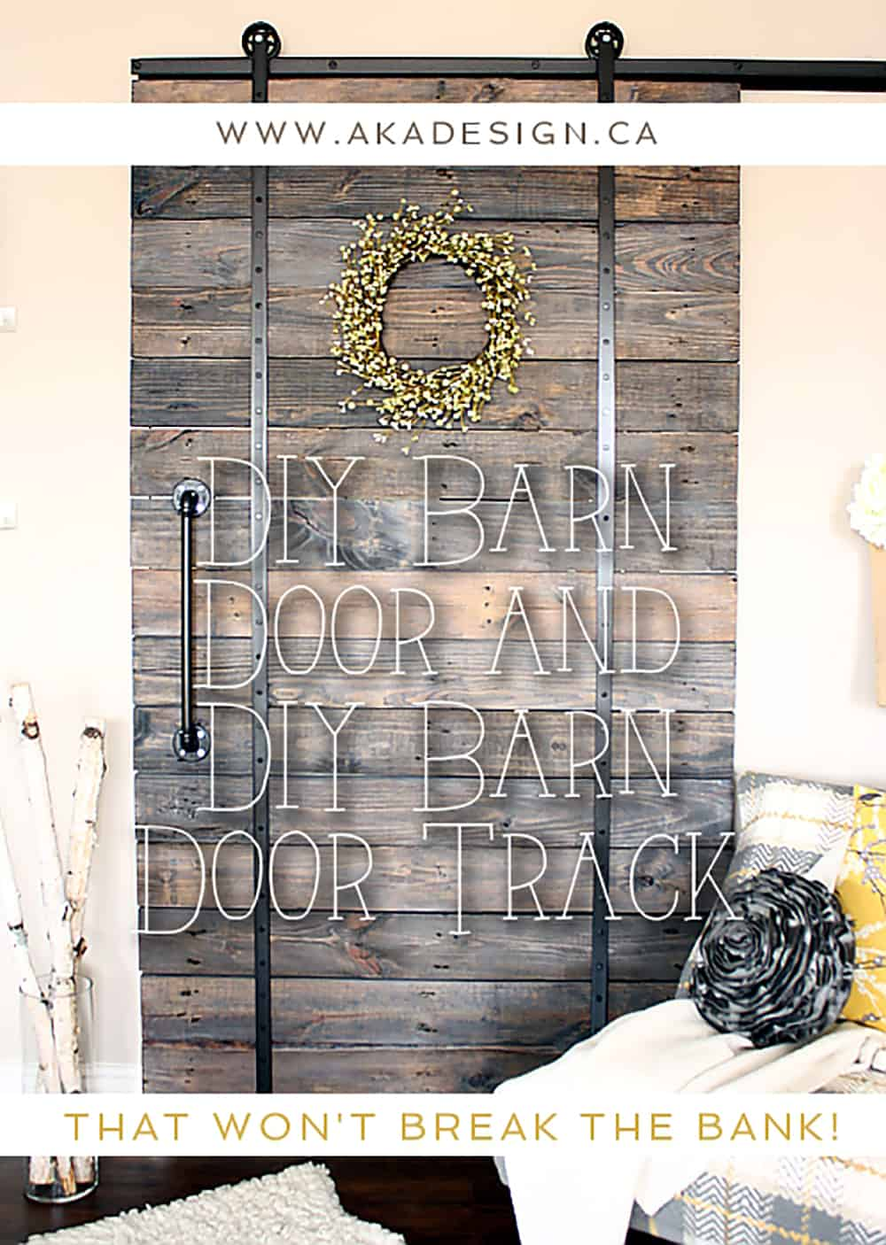 DIY BARN DOOR AND DIY BARN DOOR TRACK THAT WON\u0027T BREAK THE BANK & DIY Barn Door and DIY Barn Door Track That Won\u0027t Break the Bank!