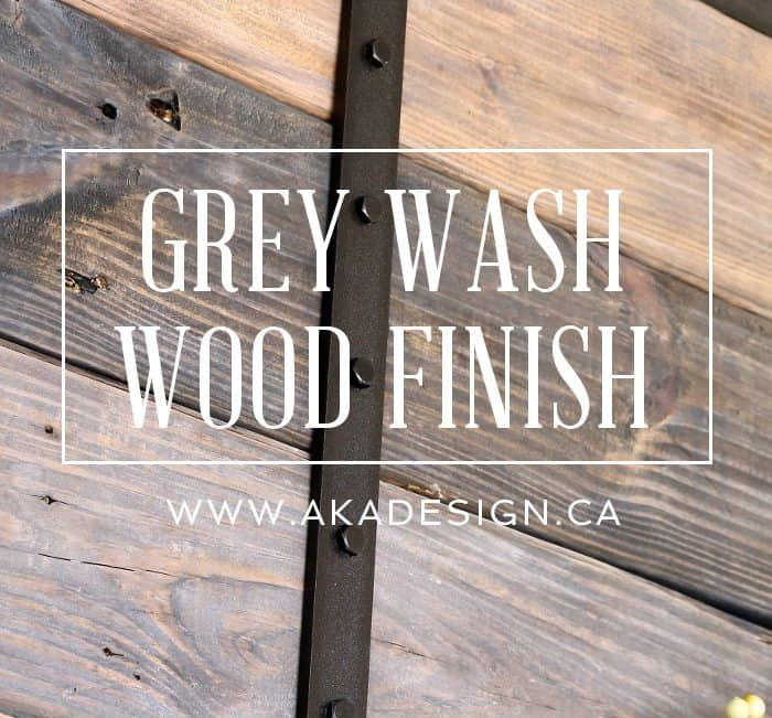 GREY WASH WOOD FINISH
