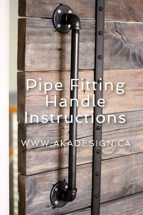 PIPE FITTING HANDLE INSTRUCTIONS