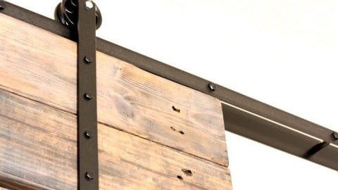 DIY Barn Door and DIY Barn Door Track That Won't Break the Bank!