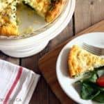 Spinach Herb and Garlic Crustless Quiche Recipe