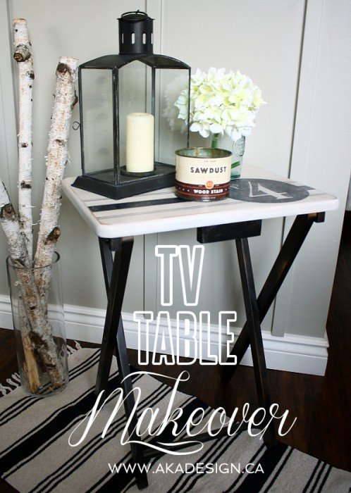 TV Table Makeover AKA DESIGN