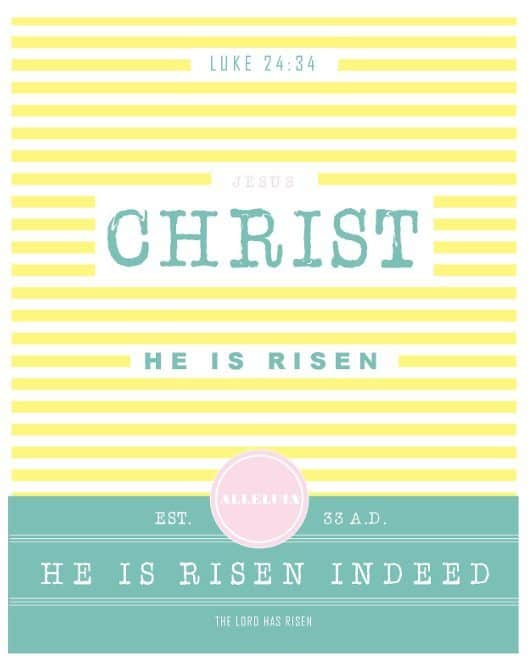 he is risen yellow printable thumb