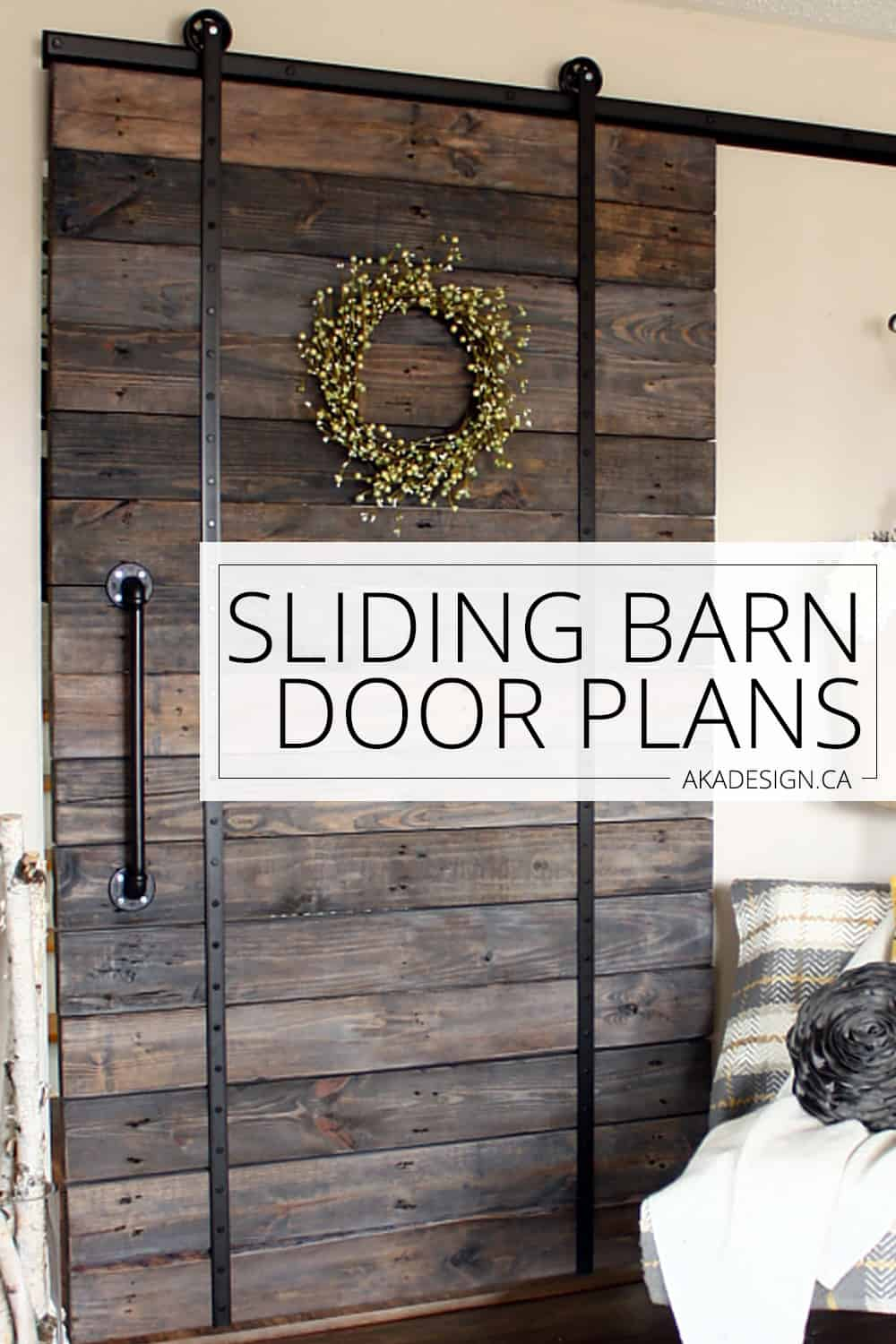 Sliding barn door plans. So much cheaper than the kits they sell.