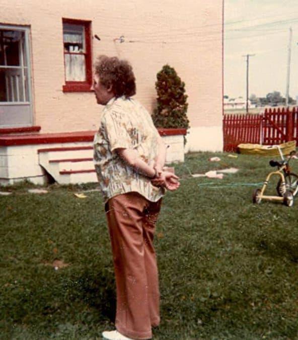 grandma at auntie's farm | www.akadesign.ca