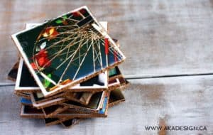 cork picture coasters diy | www.akadesign.ca