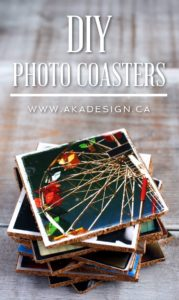 how to make photo coasters | www.akadesign.ca