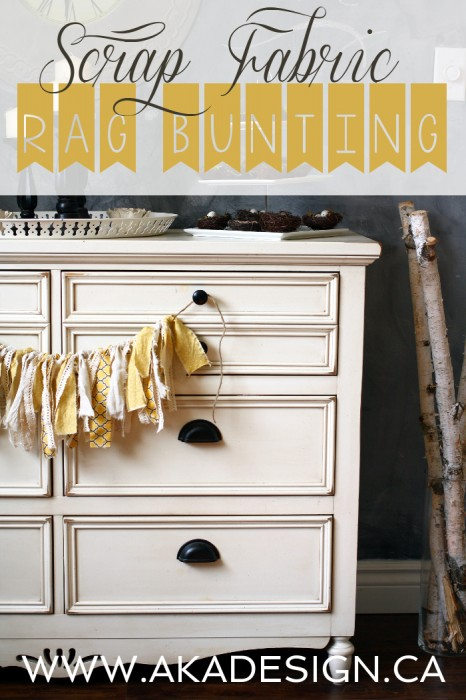 SCRAP FABRIC RAG BUNTING AKA DESIGN