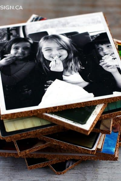 Show Off Your Photos  with DIY Photo Coasters