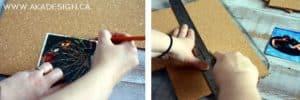 cutting cork tile | www.akadesign.ca