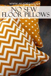 no sew floor cushion | www.akadesign.ca