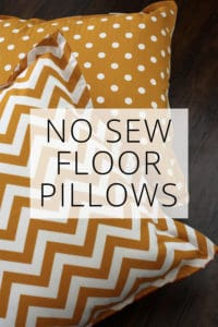 no sew floor pillows