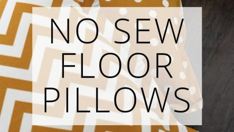 No Sew Floor Pillows
