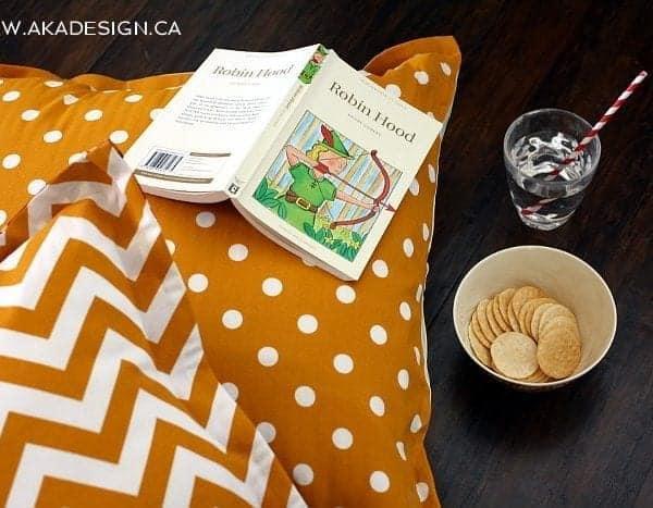 no sew floor pillows   www.akadesign.ca