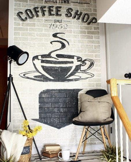 DIY old brick wall advertising