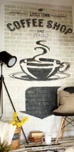 painted sign on brick   www.akadesign.ca