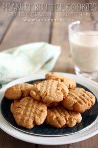 peanut butter cookies recipe | www.akadesign.ca