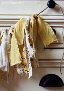 simple fabric bunting | www.akadesign.ca