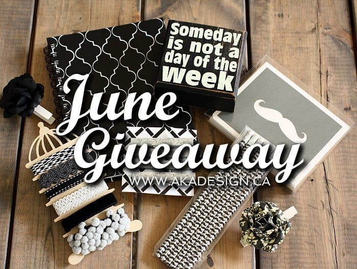 June Giveaway on www.akadesign.ca