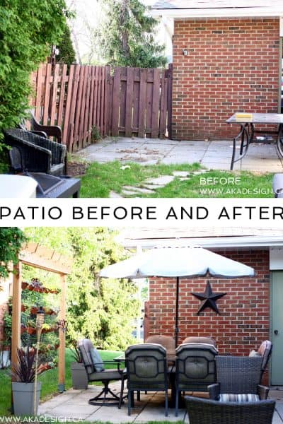 Our Patio Before and After