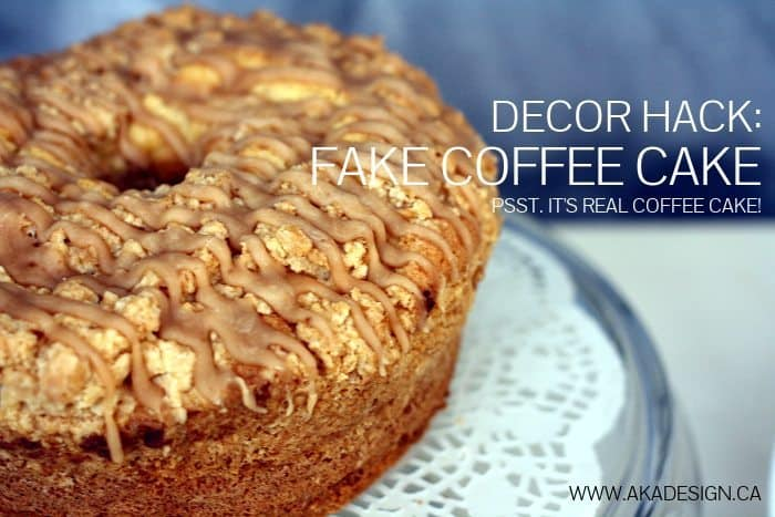REAL COFFEE CAKE DRIED TO MAKE DECOR CAKE