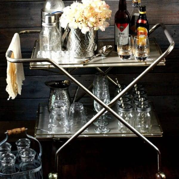 Thrift Store Bar Cart | www.akadesign.ca