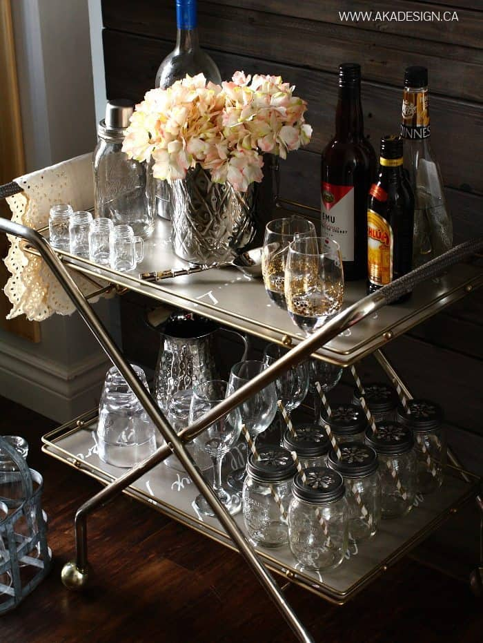 THRIFTED BAR CART | WWW.AKADESIGN.CA