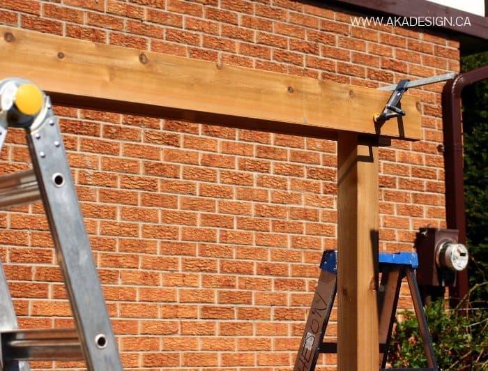 clamp planks onto posts