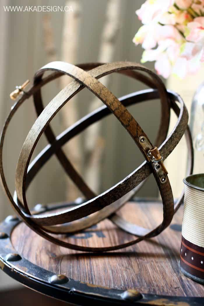 embroidery hoop orbs | www.akadesign.ca