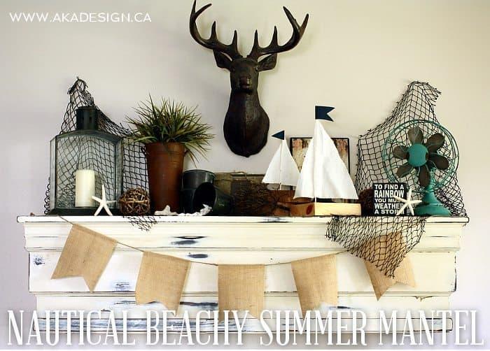 NAUTICAL BEACHY SUMMER MANTEL | WWW.AKADESIGN.CA