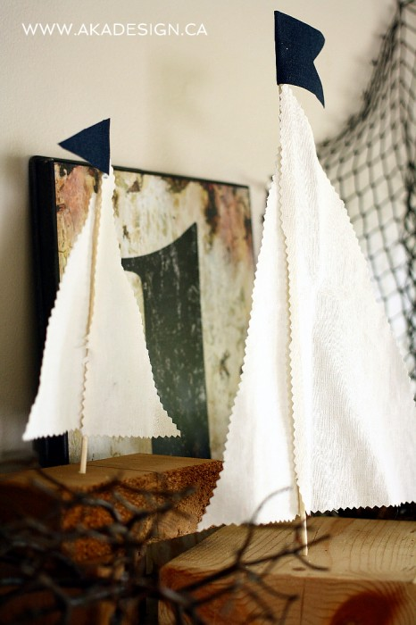 rustic sailboat diy decor
