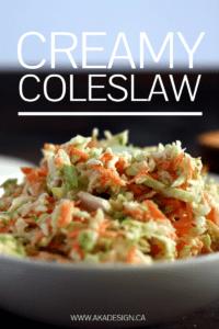 CREAMY COLESLAW RECIPE | WWW.AKADESIGN.CA