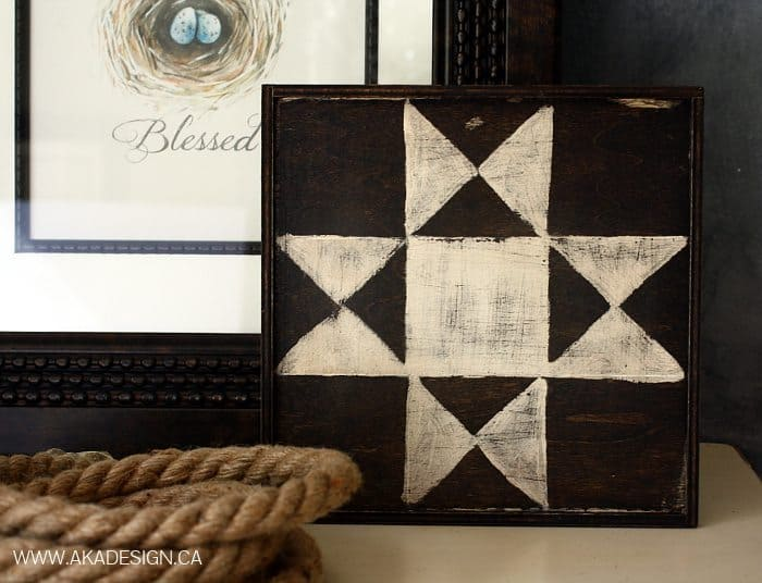 MINI BARN QUILT | WWW.AKADESIGN.CA