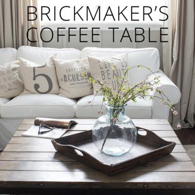 DIY Brickmaker's Coffee Table