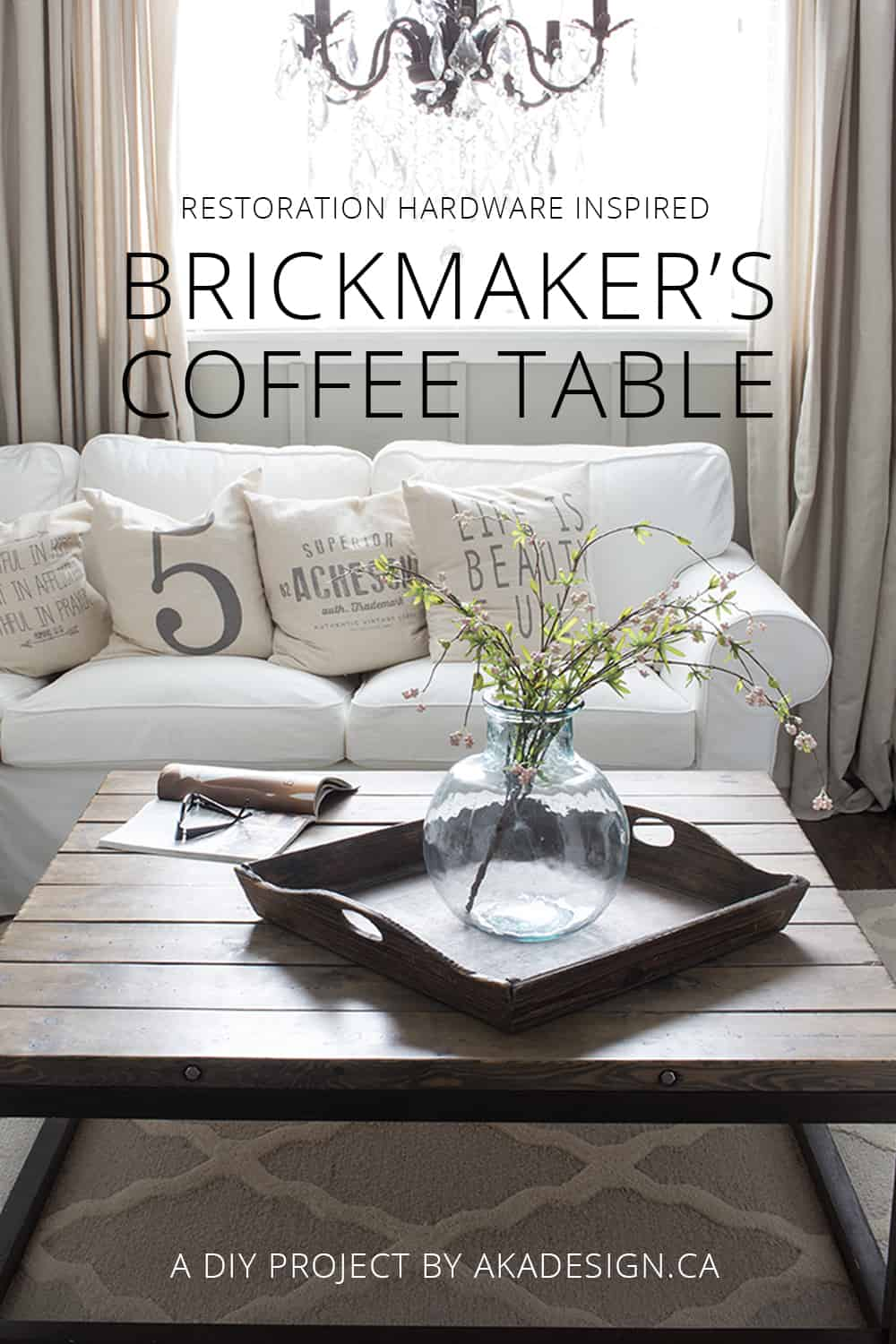 DIY Restoration Hardware Style Brickmakers Coffee Table Super Easy And Inexpensive