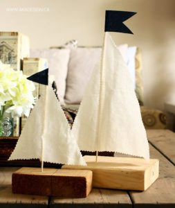 SCRAP WOOD AND FABRIC SAILBOATS | WWW. AKADESIGN.CA