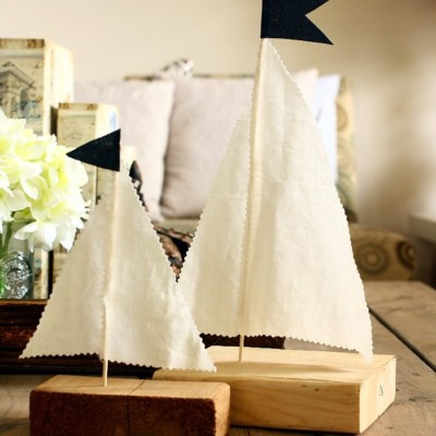 Scrap Wood Sailboats