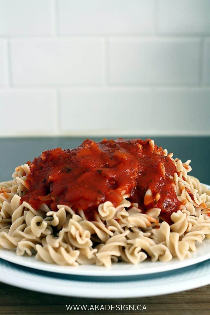 almost from scratch spaghetti sauce